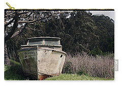 A Retired Old Fishing Boat On Dry Land In Bodega Bay Carry-all Pouch