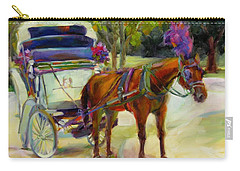Carry-all Pouch featuring the painting A Ride Through Central Park by Chris Brandley