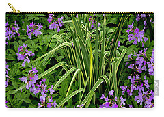 A Ring Of Purple Flowers Carry-all Pouch