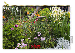 A Riot Of Flowers Carry-all Pouch by Lorraine Devon Wilke