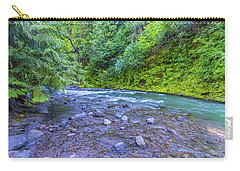 Carry-all Pouch featuring the photograph A River by Jonny D