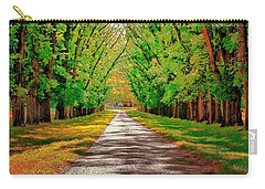 A Road Through Autumn Carry-all Pouch