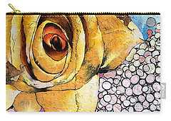 Carry-all Pouch featuring the mixed media A Rose By Any Other Name by Terry Rowe