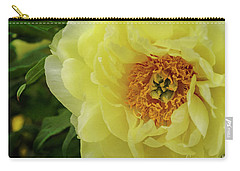 Carry-all Pouch featuring the photograph A Rose In Bloom by Debra Fedchin