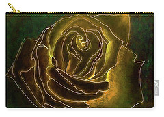 A Rose In Gold Carry-all Pouch