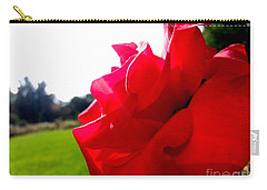 Carry-all Pouch featuring the photograph A Rose In The Sun by Robert Knight