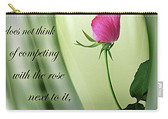 Carry-all Pouch featuring the digital art A Rose by Nina Bradica