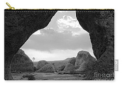 A Rugged View Carry-all Pouch by Natalie Ortiz