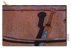 Carry-all Pouch featuring the photograph A Rusted Development II by Paul Wear