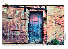 A Rusty Loading Dock Door Carry-all Pouch by Diana Mary Sharpton