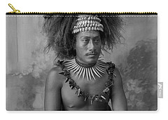 Carry-all Pouch featuring the painting A Samoan High Chief by Artistic Panda