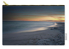 A Sandy Shoreline At Sunset Carry-all Pouch