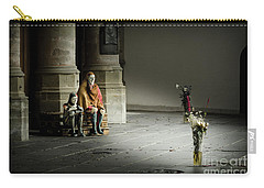 Carry-all Pouch featuring the photograph A Scene In Oude Kerk Amsterdam by RicardMN Photography