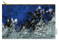 Carry-all Pouch featuring the digital art A Sea Storm In My Heart by Silvia Ganora