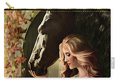 Carry-all Pouch featuring the digital art A Secret Passage by Melinda Hughes-Berland