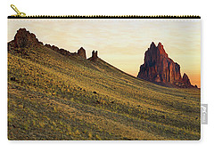 A Shiprock Sunrise - New Mexico - Landscape Carry-all Pouch by Jason Politte