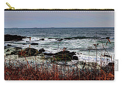 Carry-all Pouch featuring the photograph A Shoreline In New England by Tom Prendergast