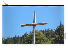 Carry-all Pouch featuring the photograph A Simple Cross by Marie Neder