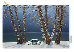 Carry-all Pouch featuring the photograph A Simple Winter Scene by Sean Sarsfield