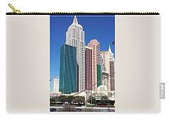Carry-all Pouch featuring the photograph A  Sin City Lamdmark by Aaron Martens