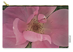 Carry-all Pouch featuring the photograph A Single Pink Rose by Joann Copeland-Paul