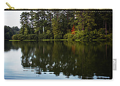 Carry-all Pouch featuring the photograph A Single Red Tree by Parker Cunningham