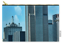 Carry-all Pouch featuring the photograph A Slice Of Dallas by Joan Bertucci
