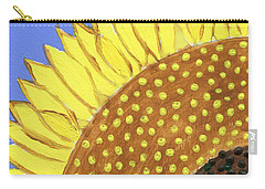 Carry-all Pouch featuring the painting A Slice Of Sunflower by Deborah Boyd