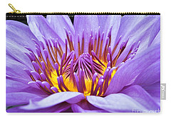 A Sliken Purple Water Lily Carry-all Pouch
