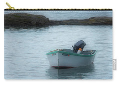 Carry-all Pouch featuring the photograph A Small Boat In Casco Bay by Guy Whiteley