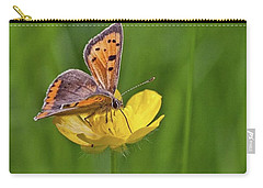 A Small Copper Butterfly (lycaena Carry-all Pouch by John Edwards