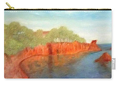 A Small Inlet Bay With Red Orange Rocks Carry-all Pouch
