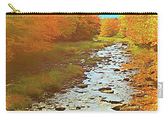 A Small Stream Bright Fall Color. Carry-all Pouch