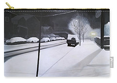 A Snowy Street In Portland Carry-all Pouch