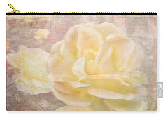 A Softer Rose Carry-all Pouch by Victoria Harrington