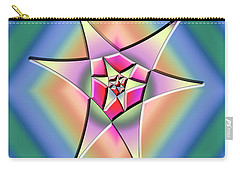Carry-all Pouch featuring the digital art A Splash Of Color 1 by Chuck Staley