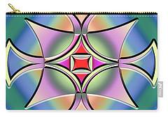 Carry-all Pouch featuring the digital art A Splash Of Color 4 by Chuck Staley