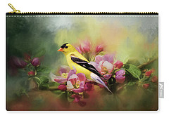 A Splash Of Joy Bird Art Carry-all Pouch by Jai Johnson