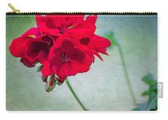 Carry-all Pouch featuring the photograph A Splash Of Red by Betty LaRue