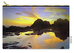 Carry-all Pouch featuring the photograph A Splatter Paint Sunset by Tara Turner