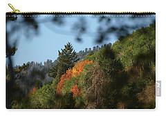 Carry-all Pouch featuring the photograph A Spot Of Fall by DeeLon Merritt