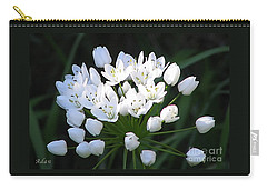 Carry-all Pouch featuring the photograph A Spray Of Wild Onions by Felipe Adan Lerma