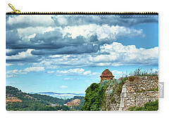 Carry-all Pouch featuring the photograph A Spring Day At The Roman Walls Of Tarragona by Eduardo Jose Accorinti