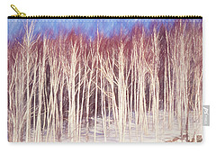 A Stand Of White Birch Trees In Winter. Carry-all Pouch