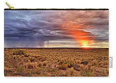 A Stormy New Mexico Sunset - Storm - Landscape Carry-all Pouch by Jason Politte