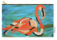 A Straight Up Flamingo Carry-all Pouch