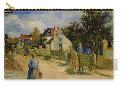 A Street In Pontoise 1879 Carry-all Pouch