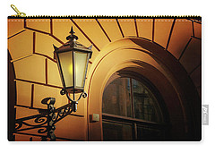 Carry-all Pouch featuring the photograph A Street Lamp In Lisbon Portugal  by Carol Japp
