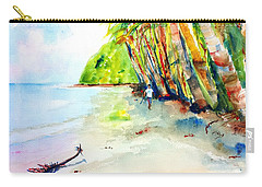 A Stroll On Batibou Beach Dominica Carry-all Pouch by Carlin Blahnik