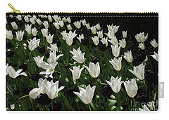 A Study In Black And White Tulips Carry-all Pouch